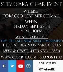 Steve Saka Cigar Event